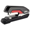 Supreme S50 SuperFlatClinch Half Strip Stapler, 50-Sheet Capacity, Black/Red
