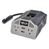 Tripp Lite 400W AC Inverter with USB Charging; 2 Outlets, 2 USB Ports, Silver