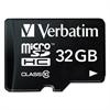 Verbatim microSDHC Card w/Adapter, Class 10, 32GB