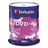 Verbatim DVD+R Discs, 4.7GB, 16x, Spindle, 100/Pack
