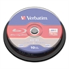 Verbatim BD-RE Disc, 25 GB, 2x, Silver,10/Pk
