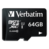 Verbatim microSDXC Memory Card with SD Adapter, Class 10, 64GB