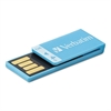 Verbatim Clip-It USB 2.0 Flash Drive, 4GB, Blue