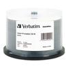 Verbatim CD-R Discs, Printable, 700MB/80min, 52x, Spindle, White, 50/Pack