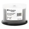 Verbatim Inkjet Printable DVD+R Discs, 4.7GB, 16x, Spindle, White, 50/Pack