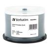 Verbatim CD-R Discs, Printable, 700MB/80min, 52x, Spindle, Silver, 50/Pack