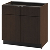 Hospitality Double Base Cabinet, Two Doors/Drawers, 36 x 24 x 36, Mocha