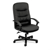 basyx VL641 Series Leather High-Back Swivel/Tilt Chair, 25 3/4w x 28 1/2d x 47h, Black