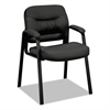 basyx VL640 Series Leather Guest Leg Base Chair, Black