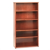 basyx BW Wood Veneer Series Five-Shelf Bookcase, 36w x 13d x 66h, Bourbon Cherry