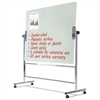 MasterVision Glass Revolving Easel, 59 x 47 1/2, Silver Frame