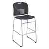 Vy Sled Base Bistro Chair, Black