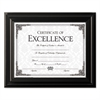 High Gloss Frame, 8 1/2 x 11, Black Frame