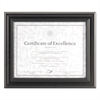 DAX Dimensional Solid Wood Frame, 8 1/2 x 11, Black Frame