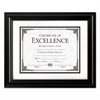High Gloss Frame, 8 1/2 x 11; 11 x 14, Black Frame