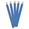Advantus Crowd Management Wristbands, Sequentially Numbered, 10 x 3/4, Blue, 100/Pack