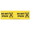Shipping and Handling Self-Adhesive Label, 10 1/2 x 3 1/4, DO NOT STACK, 100/PK