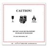 Hazmat Self-Adhesive Shipping Label, 5 7/8 x 5 1/4, CAUTION, 500/Roll