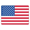 Warehouse Self-Adhesive Label, 4 1/2 x 3, USA FLAG, 100/Pack