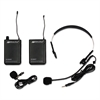 Wireless Lapel and Headset Microphone Kit