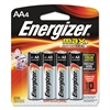 Energizer MAX Alkaline Batteries, AA, 4 Batteries/Pack