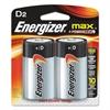 MAX Alkaline Batteries, D, 2 Batteries/Pack