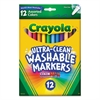 Crayola Washable Markers, Fine Point, Classic Colors, 12/Set