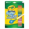 Crayola Washable Super Tips Markers, Assorted, 20/Set