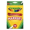 Crayola Non-Washable Markers, Fine Point, Classic Colors, 10/Set