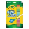 Crayola Washable Super Tips Markers, Assorted, 50/Set