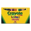 Crayola Large Crayons, 16 Colors/Box