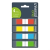 Universal Page Flags, Assorted Colors, 35 Flags/Dispenser, 4 Dispensers/Pack