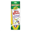 Crayola Dry Erase Washable Colored Pencil Set, Assorted, 8/Set