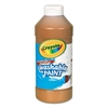 Crayola Washable Paint, Brown, 16 oz