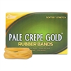 Pale Crepe Gold Rubber Bands, Sz. 64, 3-1/2 x 1/4, 1lb Box
