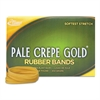 Pale Crepe Gold Rubber Bands, Sz. 117B, 7 x 1/8, 1lb Box