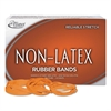 Non-Latex Rubber Bands, Sz. 33, Orange, 3 1/2 x 1/8, 720 Bands/1lb Box