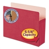 "5 1/4"" Exp Colored File Pocket, Straight Tab, Letter, Red"