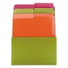 Smead Organized Up Stadium Files w/Vertical Folders, 3 Pocket, Letter, Bright Assorted