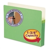 "1 3/4"" Exp Colored File Pocket, Straight Tab, Letter, Green"
