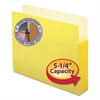"5 1/4"" Exp Colored File Pocket, Straight Tab, Letter, Yellow"