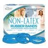 Alliance Antimicrobial Non-Latex Rubber Bands, Sz. 54, Assorted, 1/4lb Box