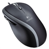M500 Corded Mouse, Three-Button/Scroll, Black/Silver