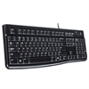 K120 Ergonomic Desktop Wired Keyboard, USB, Black