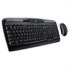 MK320 Wireless Desktop Set, Keyboard/Mouse, USB, Black