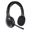 H800 Binaural Over-the-Head Wireless Bluetooth Headset, 4 ft Range, Black