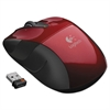 Logitech M525 Wireless Mouse, Compact, Right/Left, Red