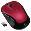 M325 Wireless Mouse, Right/Left, Red