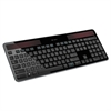 Logitech K750 Wireless Solar Keyboard, Black