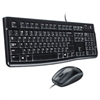 MK120 Wired Desktop Set, Keyboard/Mouse, USB, Black